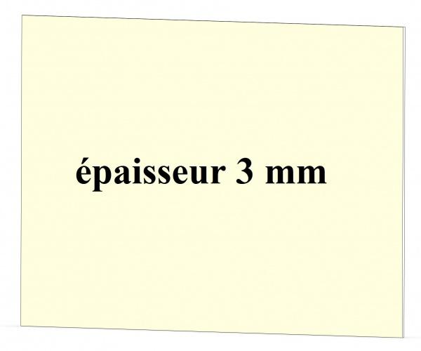 Vitre poêle SUPRA épaisseur 3 mm