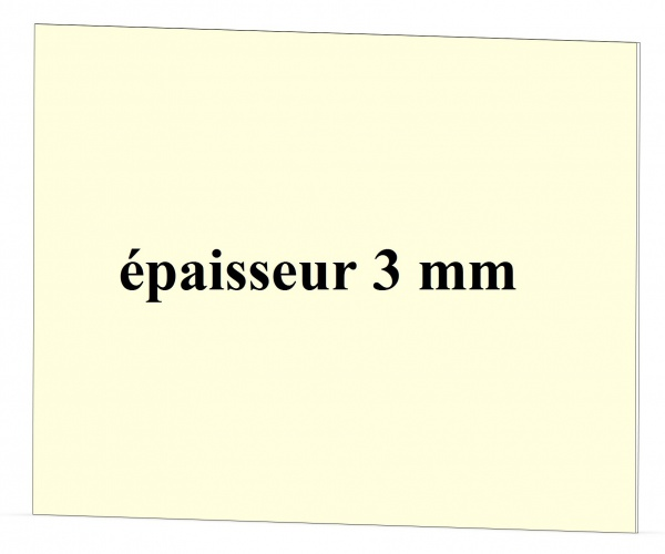 foyer SUPRA épaisseur 3 mm