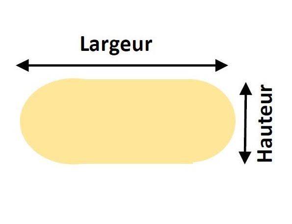 Vitre avec demie cercle aux extrémités