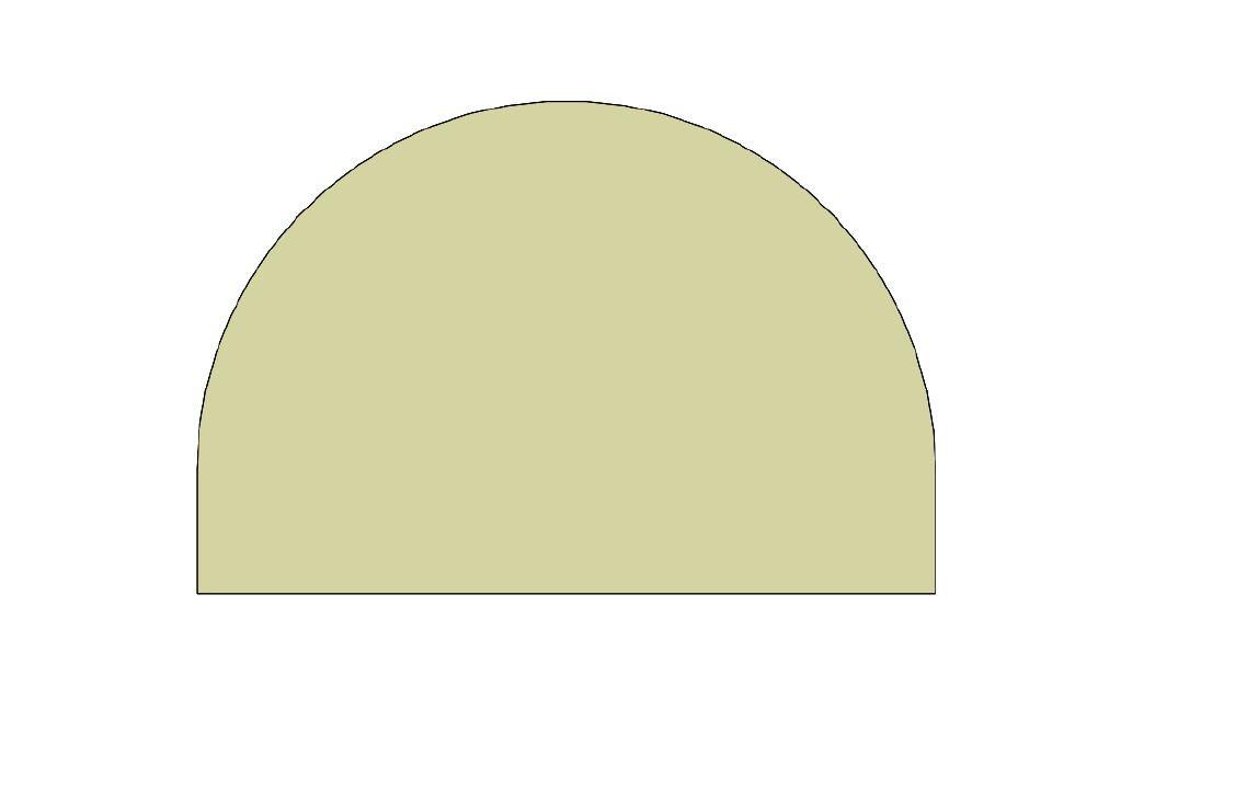Vitre BRUNO grand modèle demi-cercle