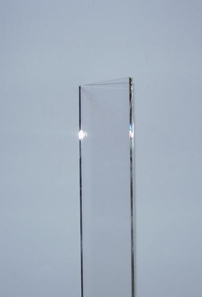 Lamelle de verre en Pyrex Coins coupés
